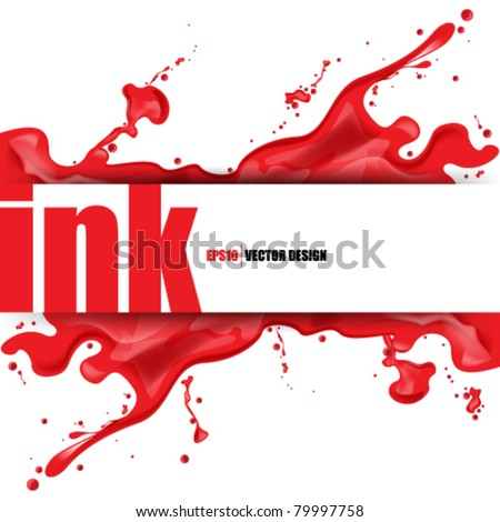 eps10 vector splattered ink concept design - stock vector