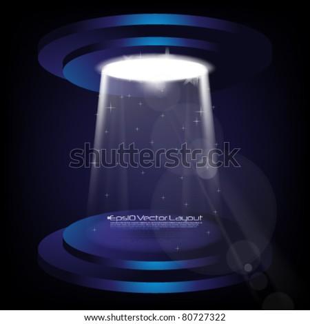 eps10 vector spotlight effect - stock vector