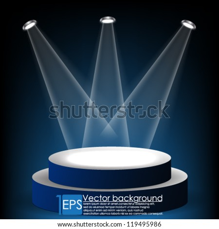 eps10 vector stage abstract background - stock vector