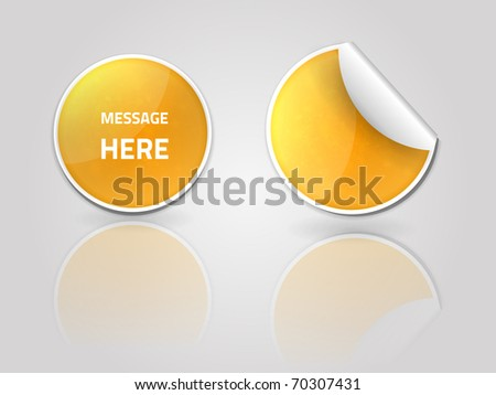EPS10 vector stickers for your design - stock vector