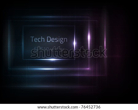 EPS10 vector tech design - stock vector
