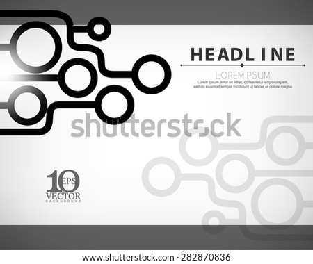 eps10 vector technology lines and circle business background - stock vector