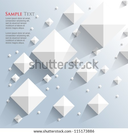 eps10 vector top view pyramid elements background - stock vector