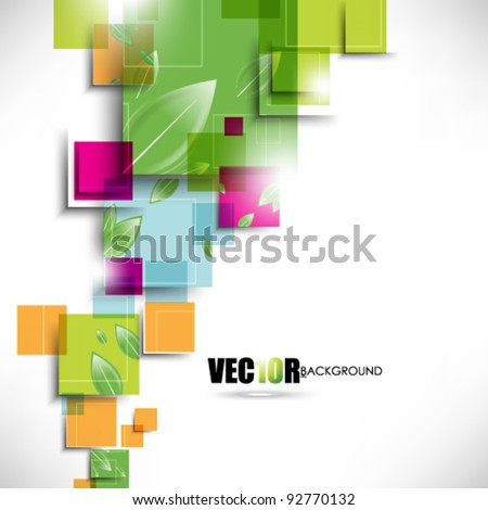 eps10 vector trendy multicolor design with leaf elements - stock vector