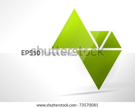 EPS10 vector triangle design - stock vector
