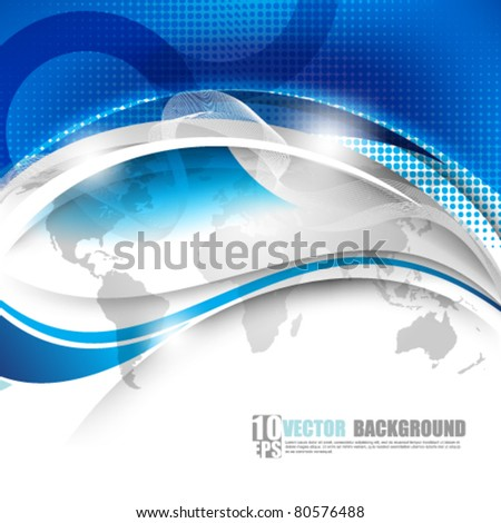 eps10 vector unique waves futuristic background - stock vector