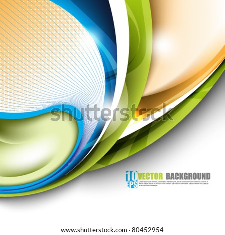 eps10 vector vector elegant multicolor background concept design - stock vector