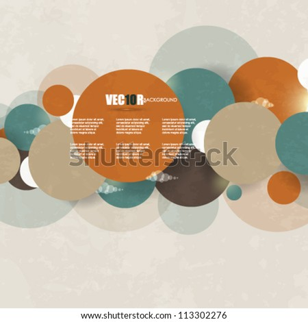 eps10 vector vintage clouds elements design - stock vector