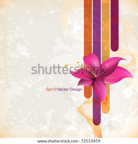 eps10 vector vintage flower concept design - stock vector