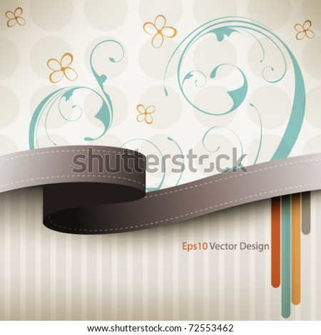 eps10 vector  vintage multicolor floral design - stock vector