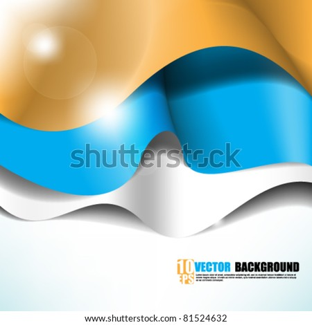 eps10 vector waving cloth concept background. space below for your texts and images - stock vector