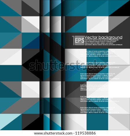 Eps10 Vector Website template abstract background - stock vector