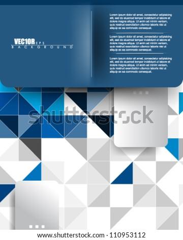 eps10 vector website template abstract deign - stock vector