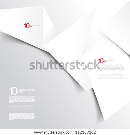 eps10 vector white paper background illustration - stock vector