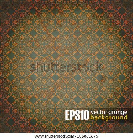 EPS10 vintage floral background - stock vector