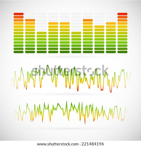 EQ, equalizer graphics - stock vector