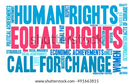 Equal Rights Word Cloud On White Stock Vector 491663815 ...
