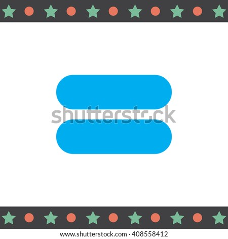 Equal Sign vector icon