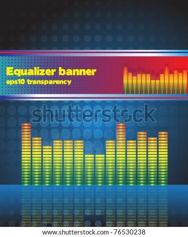 equaliser background and banner eps10 - stock vector