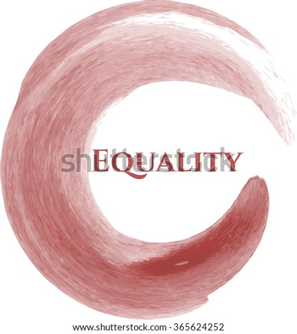 Equality aquarelle or watercolor background - stock vector