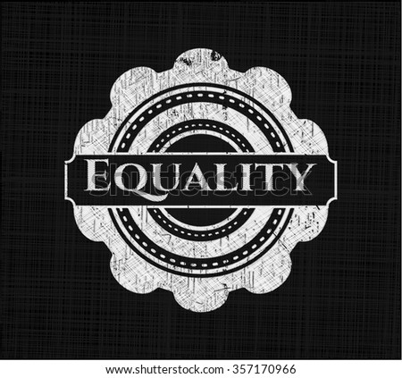 Equality on blackboard - stock vector