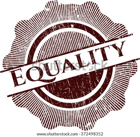 Equality rubber stamp - stock vector