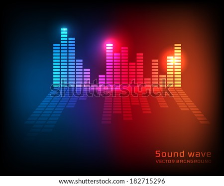Equalizer background. Vector eps10 - stock vector