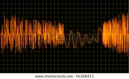 Equalizer bar vector - stock vector