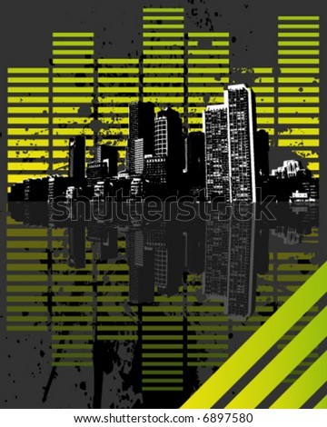 Equalizer city - stock vector
