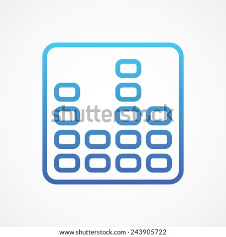 Equalizer icon, music sound wave symbol. Simple flat style - stock vector