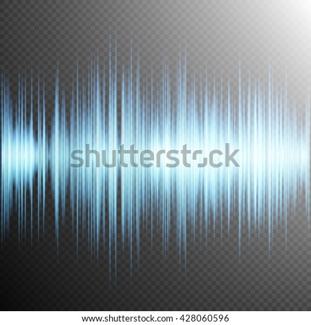 Equalizer, Sound wave, colorful musical bar. Transparent background. EPS 10 vector file included
