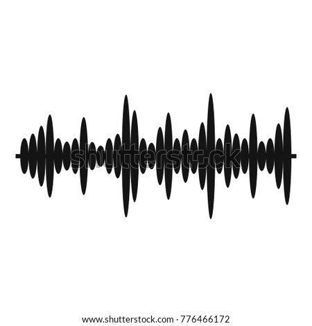 Black Music Sound Waves Isolated On 583685473