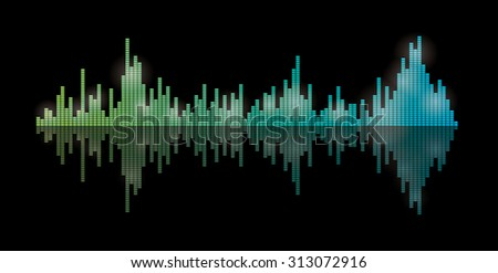 Equalizer vector background. - stock vector