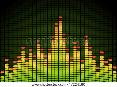 Equalizer vector background - stock vector