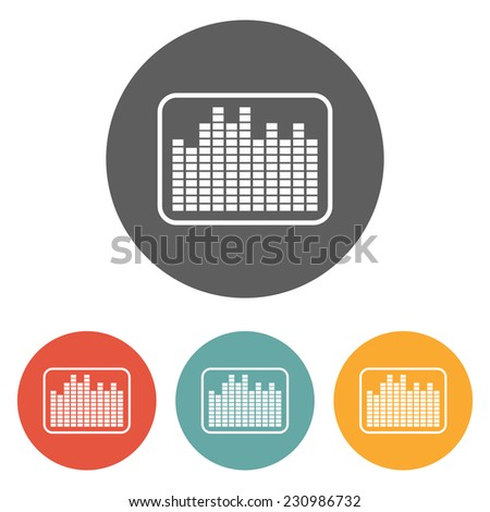 equalizer wave icon - stock vector