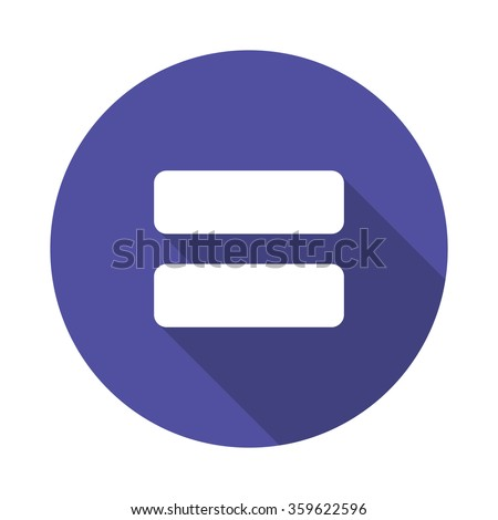 equally sign icon. vector illustration - stock vector