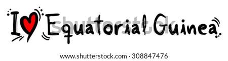 Equatorial Guinea love - stock vector