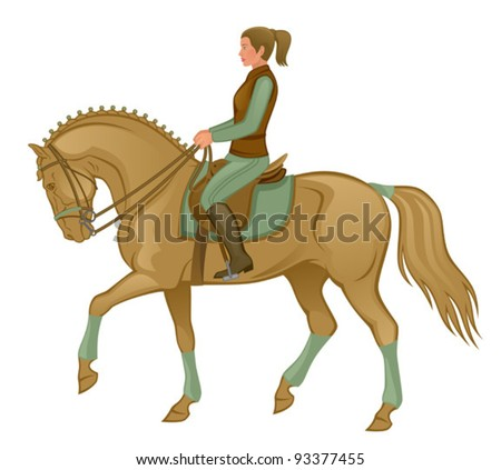 Equestrian - stock vector