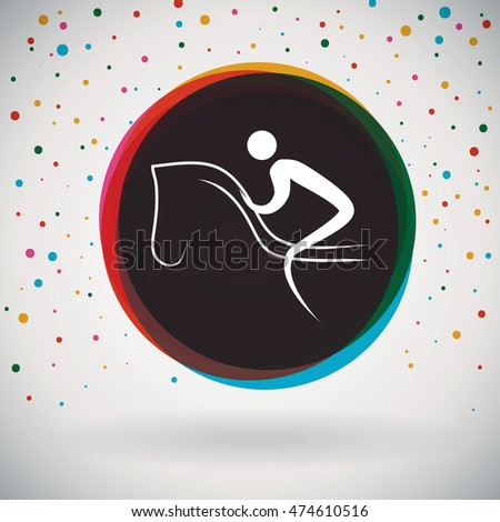 Equestrian - Colourful icon and sports background