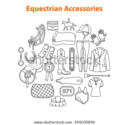 Equestrian Sport Equipment Objects  Items Accessories