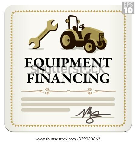 Equipment financing legal loan business document - stock vector
