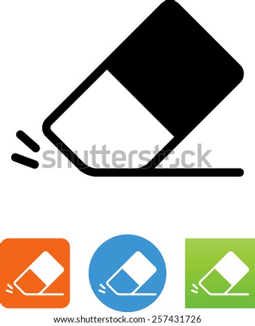 Eraser symbol for download. Vector icons for video, mobile apps, Web sites and print projects.  - stock vector