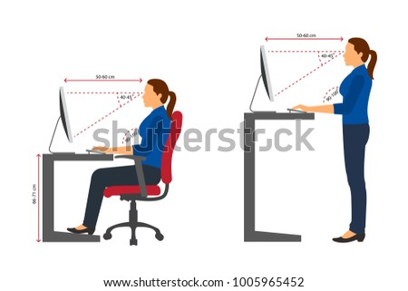 how to sit at desktop ergonomic keyboard chair