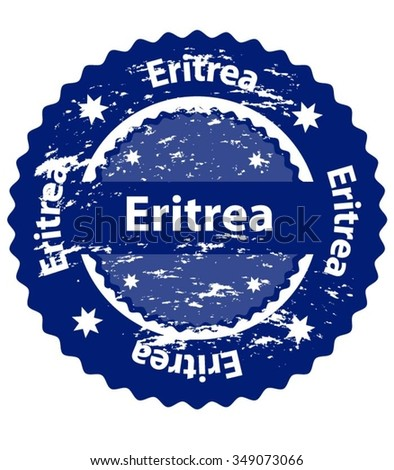 Eritrea Country Grunge Stamp - stock vector