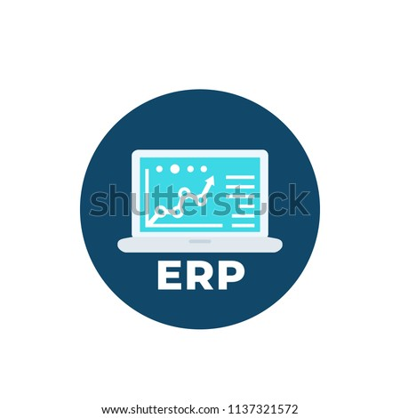 erp system software icon vector stock vector 1137321572 shutterstock