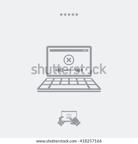 Error cable connection warning - stock vector