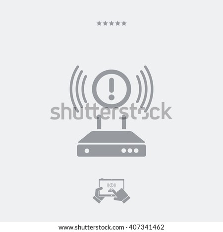 Error connection - Vector icon - stock vector