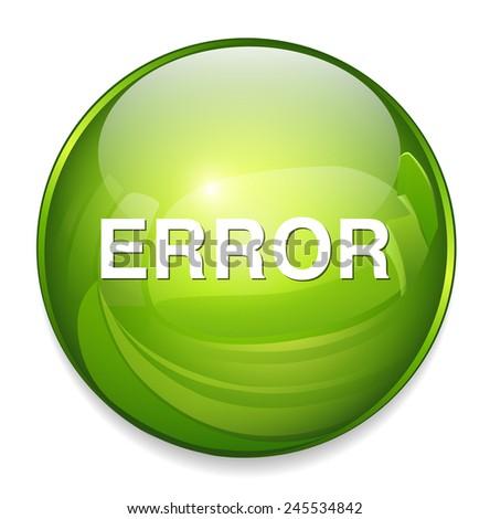 error icon - stock vector