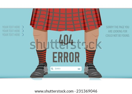 Scotsman Logo Vector Kilt Scotsman Vector