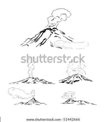 Eruption - stock vector